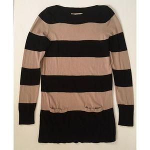 Ann Taylor LOFT Tunic Sweater Striped S M